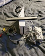 Nintendo Wii Gaming Console Sensor + Cords Gamecube Compatible White **TESTED**