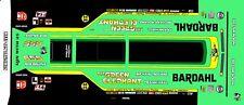 Rob Bruins the Green Elephant Vega Funny Car 1/64th HO Scale Slot Car Decals