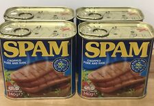 Spam Original - 4 X 340g . Chopped Pork And Ham 90% Meat . Tinned Spam