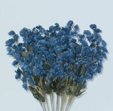 12 Babys Breath Dark Blue Silk Floral Bouquet Artificial Flowers