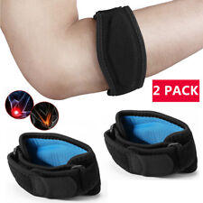 2 Pack Tennis Elbow Brace Strap Tendonitis Golfers Tennis Relief Support Band US