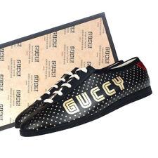 NIB GUCCI Men's FALACER SEGA 9.5 G US 10.5 Black Leather 519723 Sneaker $890