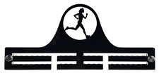 Woman Runner Running Athletics Marathon - Acrylic Medal Holder, Hanger, Display