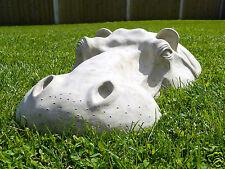 """Hippo, hippopotame tête pelouse décoration de jardin, 22"""" sculptures, outdoor statue"""
