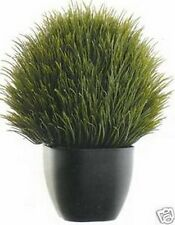 "TOPIARY ARTIFICIAL GRASS FLOWER ARRANGEMENT IN OUTDOOR FLORAL 13"" INCLUDING POT"