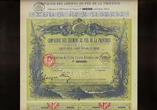 FRANCE FRENCH RAILWAY CdF Comp. des Chemins de Fer de la Provence Paris 1929