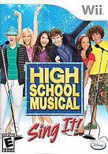High School Musical: Sing It (Nintendo Wii, 2007) COMPLETE GAME BOX MANUAL