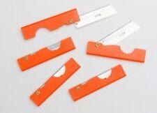 Derma-Safe Folding Utility Survival Knife - 5 Pack - Orange