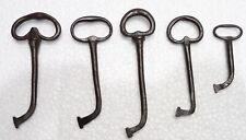 Set Of 5 Keys - Locksmith Wrought Iron Xviiième Century Keys Keys