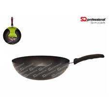 28cm Ultimate Carbon Steel Non Stick Wok Long Handle Induction Frying Pan Black
