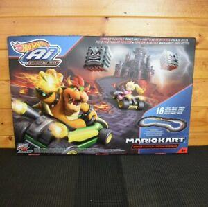 Hot Wheels AI Mario Kart 16 piece Track Set Browsers Castle Mattel New Bonanza