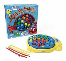 Lets Go Fishin Original Classic Fishing Toy For Kids W/ Spinning Game Board NEW
