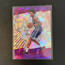 2017-18 De'Aaron Fox Rookie RC Panini Revolution Cracked Ice Kings Basketball