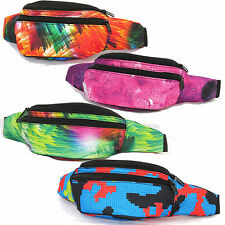 Galaxy Digital Print Fanny Pack Rave Party Festival Canvas Waist Belt Bag