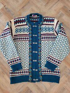 Norwegian for Tulloch of Shetlend Wool Fairisle/Folk/Nordic Cardigan/Vintage