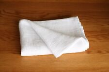 100% LINEN WAFFLED TOWEL- Washed and Softened White Linen Towel, Various Sizes