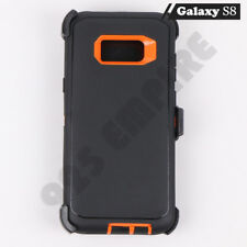 For Samsung Galaxy S8 Defender Case w/ Screen Protector (Clip Fits Otterbox)