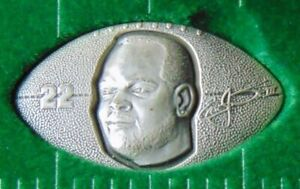 EMMITT SMITH DALLAS COWBOYS .999 SILVER FOOTBALL COIN HIGHLAND MINT ROUND 1/7500