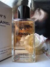 CHANEL No5 BAGNO OLIO 250ml INTENSE RARA LTD ED Vetro Bottiglia NUOVI INCARTATI BOX