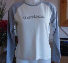 Reebok - lemon and grey long sleeved t shirt - size 12