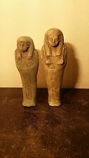 Rare Antique Ancient Egyptian 2 ushabti for Harwa & Wife(1745 - 1650 BC)