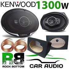 KENWOOD 1300 Watts a Pair 5-Way CAR VAN Speakers & 6x9 BLACK Pod Box KFC-PS6995