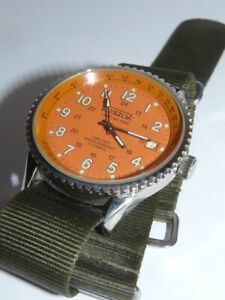Uhr Vostok Automatic Century Time Große Herrenarmbanduhr