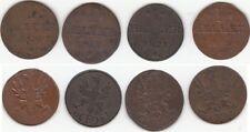 Lot de 4 monnaies en cuivre 1 Heller région de Francfort-Sur-Le-Main (Allemagne)