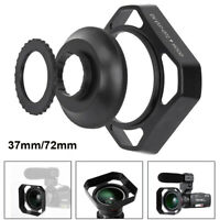 72mm Lens Hood Protector Lens Protection with 37mm Gasket for Camera Photography