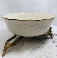 Vintage Lenox The Rose Bowl Trimmed in 24kt Gold. Handcrafted in China Made USA