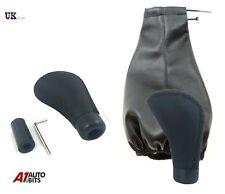 Black Car Shift Knob Gear Stick & Gaiter Cover Shifter Selector lever Universal