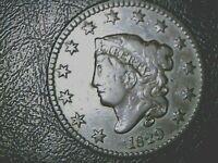 1829 (N-2)  U. S. LARGE CENT {Large Letters}
