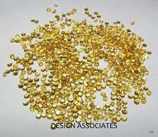 2.0 MM 100 pcs Round Diamond Cut Natural Yellow Sapphire