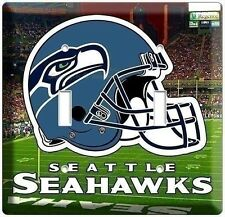SEATTLE SEAHAWKS NFL FOOTBALL 2014 SUPER BOWL CHAMPIONS LOGO DOUBLE LIGHT SWITCH