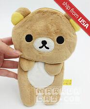 Rilakkuma Card holder Coin Case Purse wallet bag soft Cute Kawaii plush Bear NEW