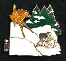 Bambi 75th Anniversary Characters in Snow Thumper Flower Le Disney Pin 123168