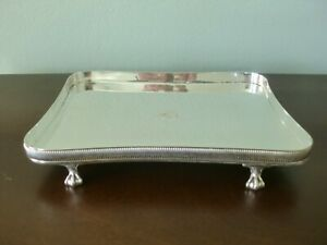 "Sterling Silver Salver Tray Prill Co 649 Grams Heraldic Lion 21 Troy Oz 8"" x 10"""