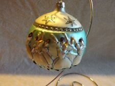 Rare Vintage Slavic Treasures Ballet Dancers Glass Ball Ornament Poland