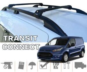 Ford Transit Connect / Tourneo LWB Roof Rails + Roof Rack Black Full Set
