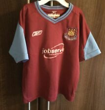 Reebok West Ham United Football Shirt 2003-05 Home Jersey Youth Size 3-4 Years