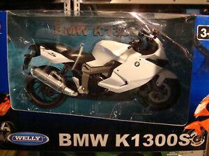 BMW K 1300 S White 1:10 Welly
