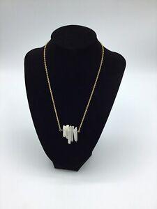Amano Studio Gold Tone Necklace with a Quartz Pendant