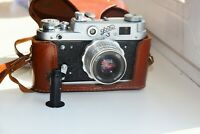 FED-3 First Edition USSR LEICA copy Rangefinder Film Camera w/s lens industar-26