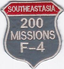 USAF 200 MISSIONS F-4 Southeast Asia Vietnam Patch W4