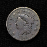 1835 1c CORONET HEAD LARGE CENT LOT#Y478