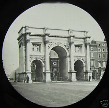 Glass Magic Lantern Slide MARBLE ARCH HYDE PARK LONDON C1890 ENGLAND