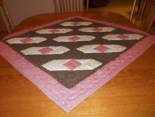 """New Table Topper/Tablecloth, 100% Cotton, Handcrafted & Hand Quilted, 36"""" Square"""
