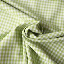 Baumwollstoff Check Karo Vichy Grün Weiß 5mm Groß Grüner Stoff Baumwolle