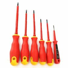 DEKO 6PCS Electricians Screwdriver Set Tool Electrical Insulated 1000V VDE Power