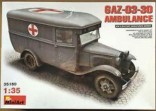 Miniart 35160 II Guerra Mundial gaz-03-30 AMBULANCIA 1/35 Maqueta militar